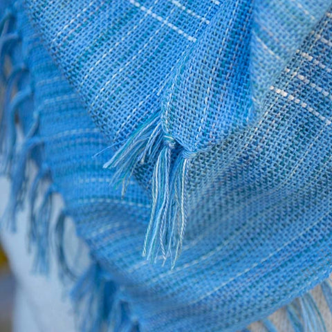 Blue Blanket Silk Scarf