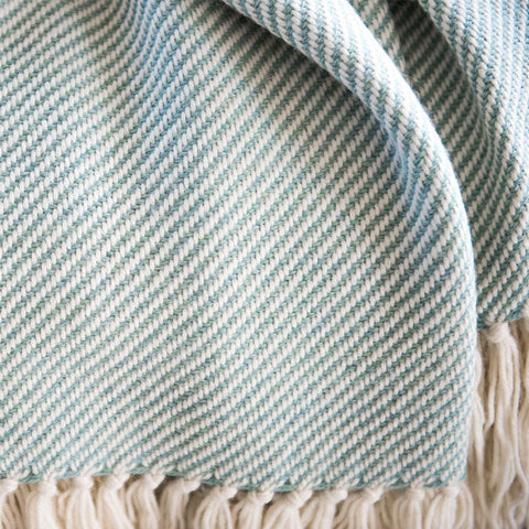 Sea Foam Alpaca Throw