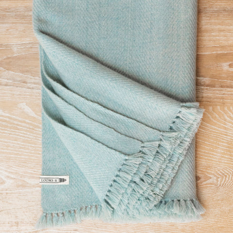 Seaglass Handwoven Cashmere Throw
