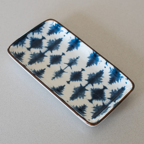 Indigo and White Shibori Mini Tray