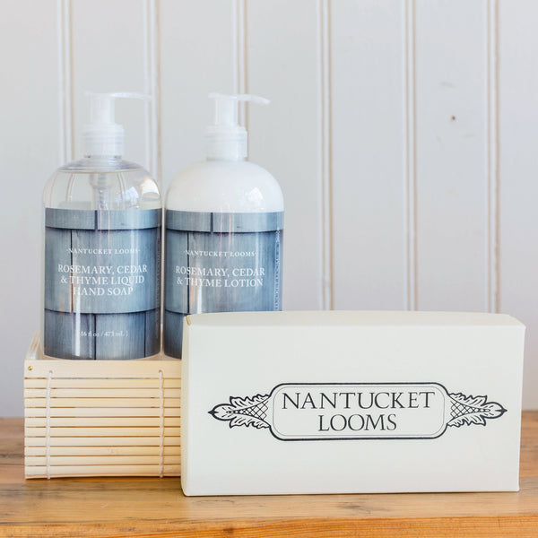 Nantucket Looms Rosemary, Cedar & Thyme Gift Basket