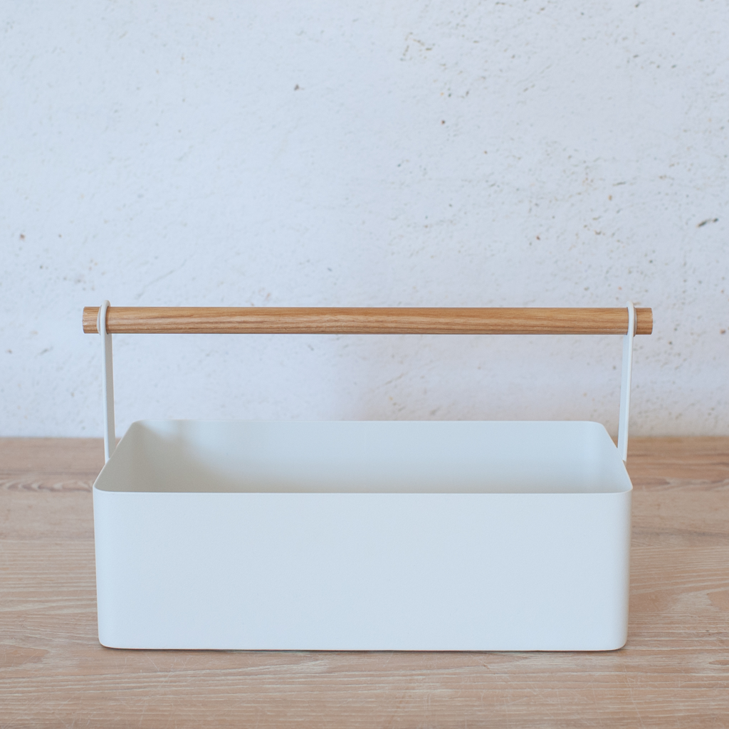 White Storage Caddy – Nantucket Looms