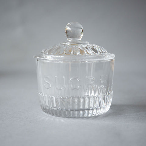 """Sucre"" Glass Sugar Jar"