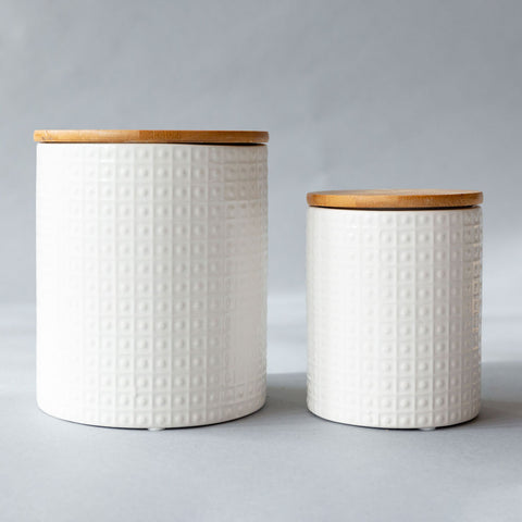 Lace Dot Canisters