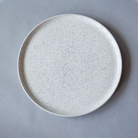Speckled Chalk Coupe Platter