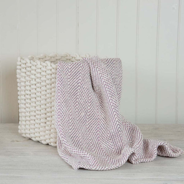 Gray Pink Baby Blanket Nantucket Looms
