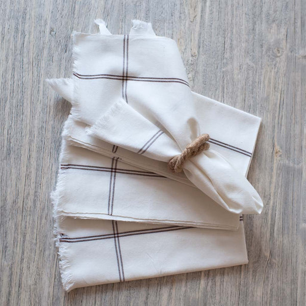 Brown Stripe Casual Cotton Napkin