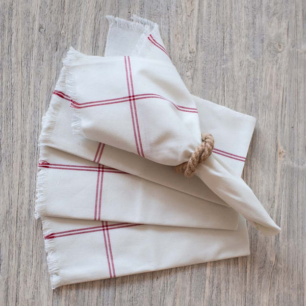 Red Stripe Casual Cotton Napkin
