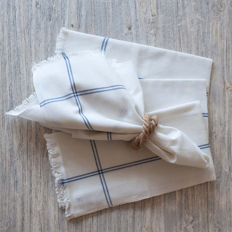 Blue Stripe Casual Cotton Napkin
