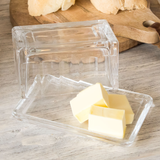 Crystal Glass Butter Dish