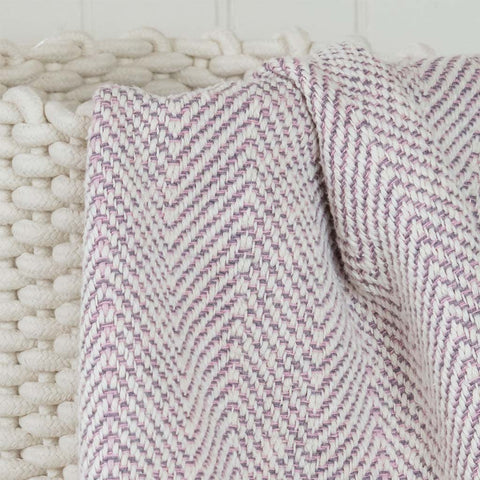 Gray Pink Baby Blanket