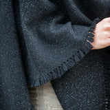 Starry Night Handwoven Cashmere Poncho