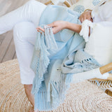 Summer Mist Handwoven Alpaca Throw