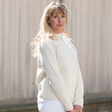 Cream Boatneck Sweater