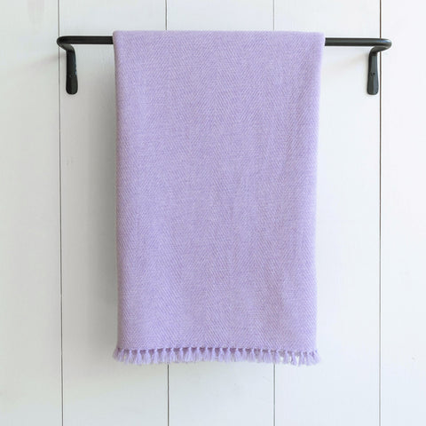 Lavender Handwoven Cashmere Throw