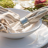 Taupe Variegated Stripe Cotton Napkins