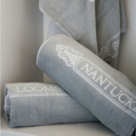 Gray Nantucket Looms Signature Towel