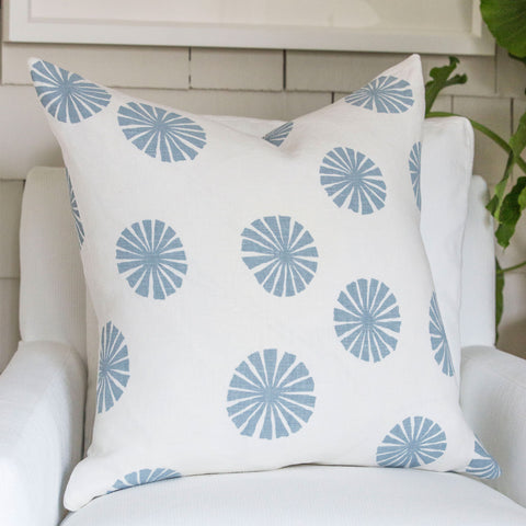 Blue Urchin Pillow