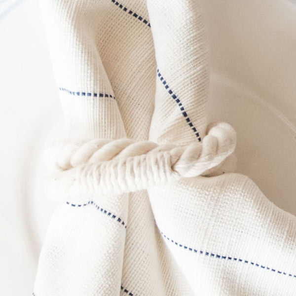 White Rope Napkin Ring