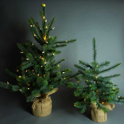 Light Up Faux Trees