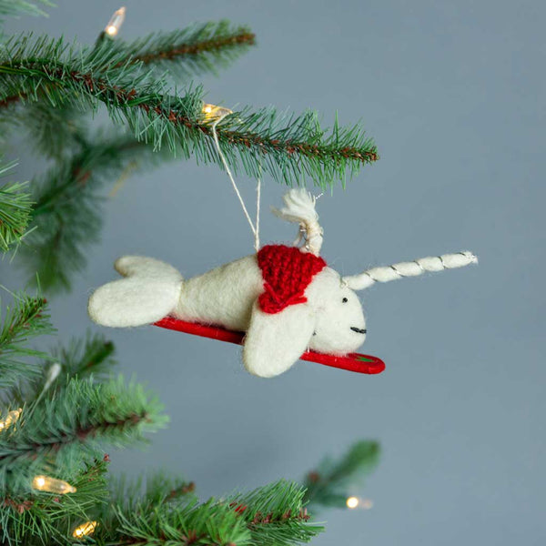 Felt Narwal Ornament