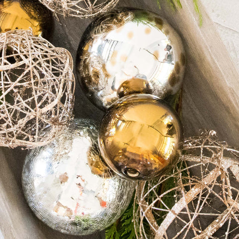 Metallic Glass Decorative Balls