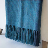 Water Study II Handwoven Alpaca Throw
