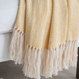 Daffodil Yellow Handwoven Cotton Throw