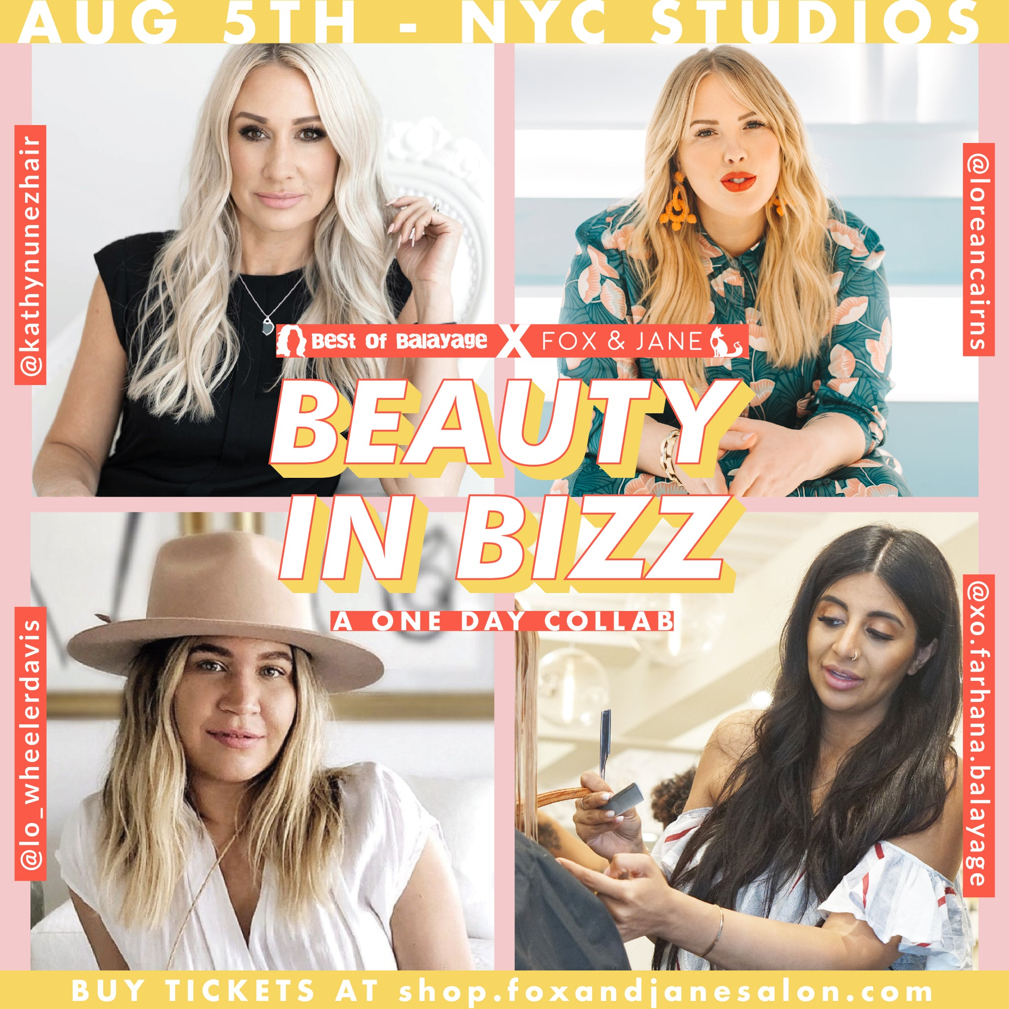 August 5th: BEAUTY IN BIZZ