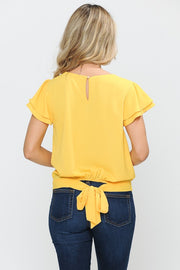 Yellow Tie Back Top