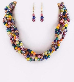 Multi Loving Braid Necklace Set