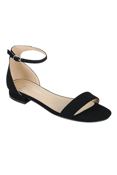 Black Ankle Strap Low Sandal