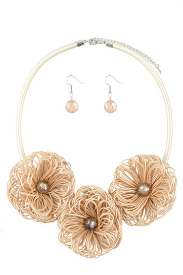 Tan Flower Necklace