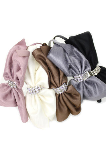 Net Satin Bow Headband