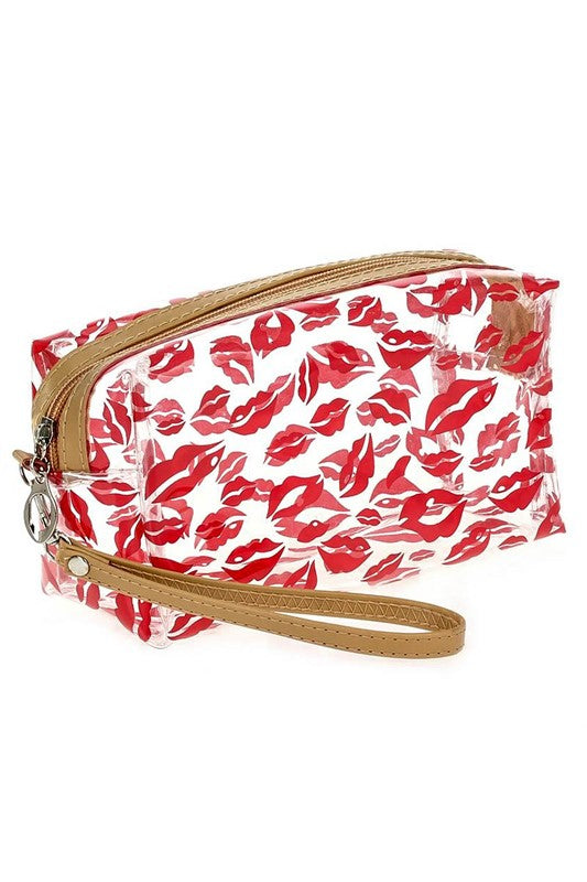 Kisses Clear Print Bag