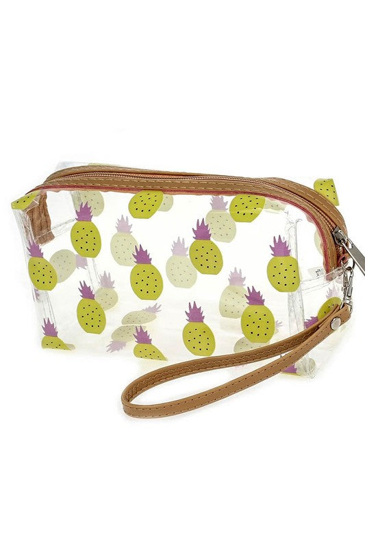 Pineapple Clear Print Bag