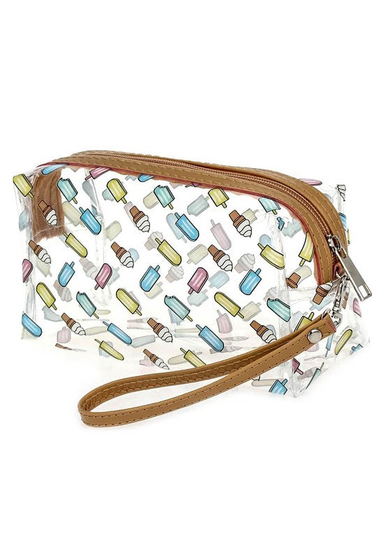 Ice Cream Clear Print Bag