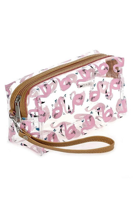 Flamingo Clear Print Bag