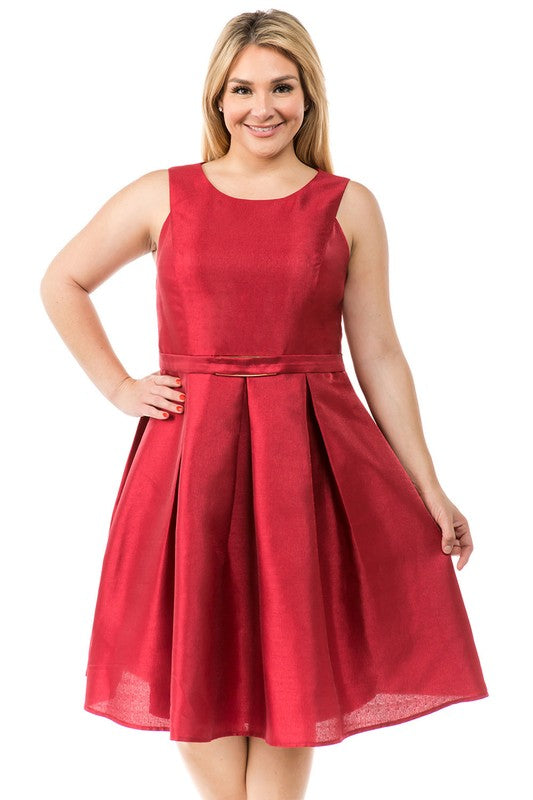 Burgundy Kennedi Plus Dress