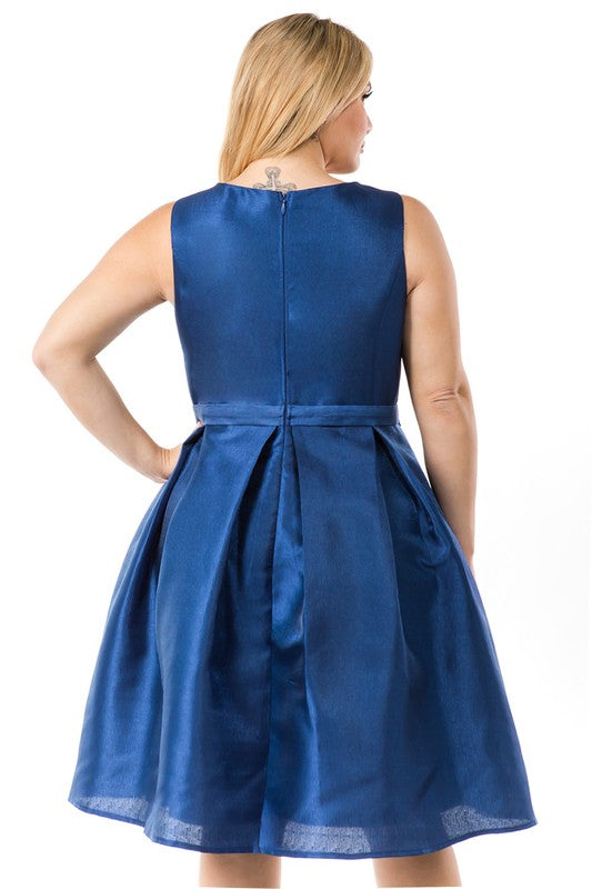 Navy Kennedi Plus Dress