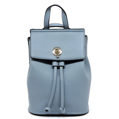 Light Blue Drawstring Backpack