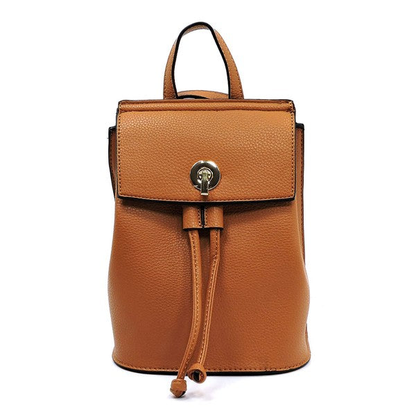 Brown Drawstring Backpack