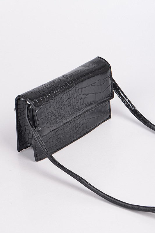 Black Snakeskin Purse