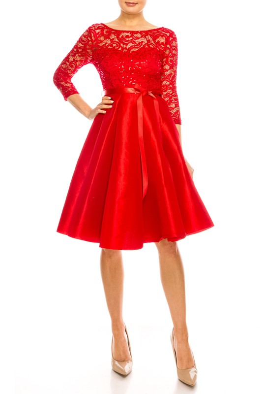 Red Simone Dress