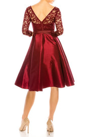 Burgundy Simone Dress