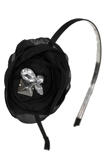 Rhinestone Flower Headband