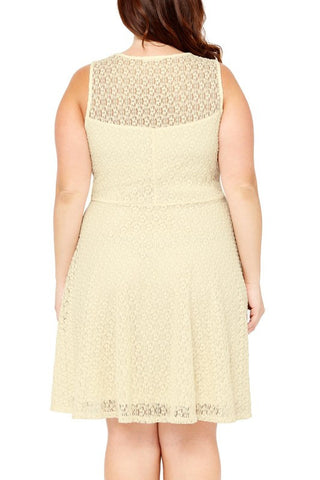 Cream Lightly Knit Plus Dress
