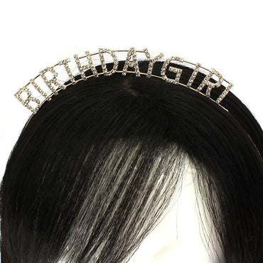 Gold Rhinestone Birthday Girl Hairband