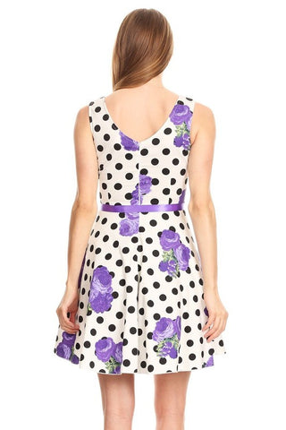 Purple Floral Festivities Dress