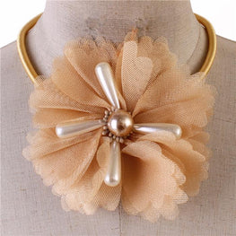 Tan Flower Choker